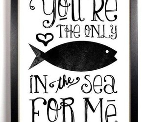 love, fish, and sea image