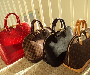 bags, girl, and louis vitton image