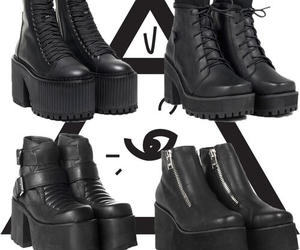 black, shoes, and unif image