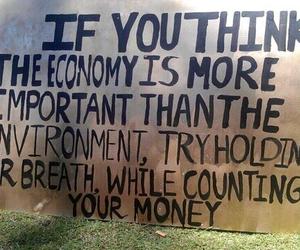 money, economy, and environment image