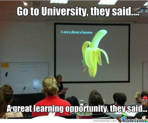 banana, funny, and learning image
