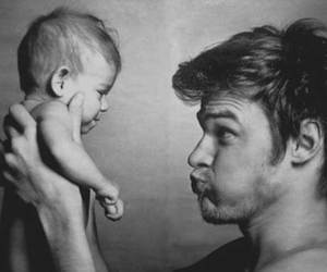 baby, couple, and dad image