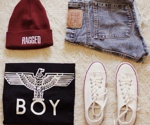 converse, outfit, and red image
