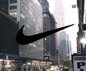 city, nike, and new york image