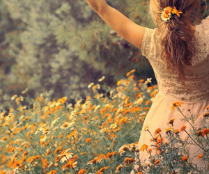 cool, flowers, and girl image
