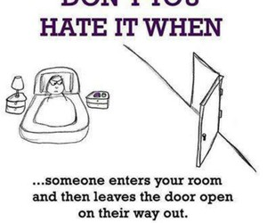 hate, door, and funny image