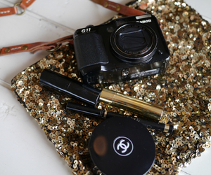 chanel and glitter image