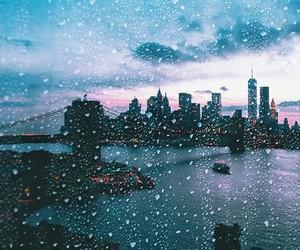 city, rain, and beautiful image