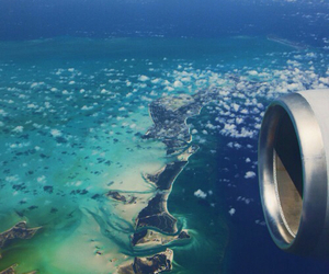 ocean, plane, and travel image