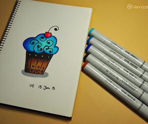 cupcake, doodle, and draw image