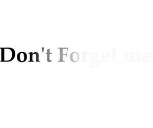 forget, me, and don't image
