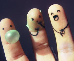 fingers, funny, and friends image