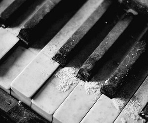 black and white, piano, and varnuak image