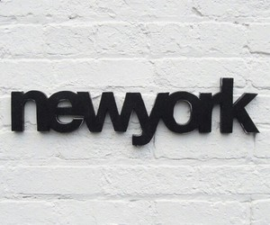 new york, black, and city image