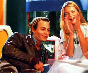 johnny depp, kate moss, and couple image