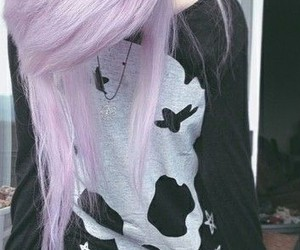 hair, pastel goth, and emo image