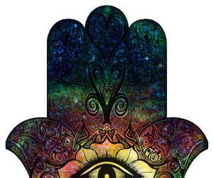hamsa, eye, and hand image