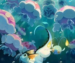 pokemon, water, and vaporeon image