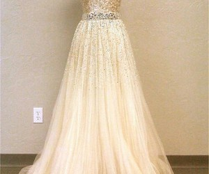 bling, dress, and wedding dress image