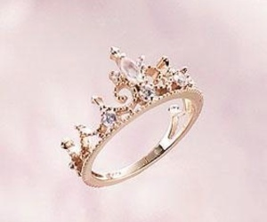 ring, crown, and pink image