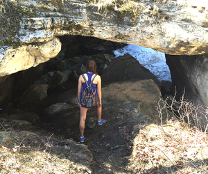 adventure, backpack, and cave image