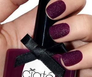 nails, purple, and ciaté image