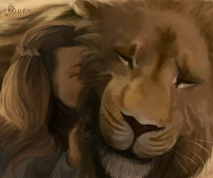 aslan, book, and draw image
