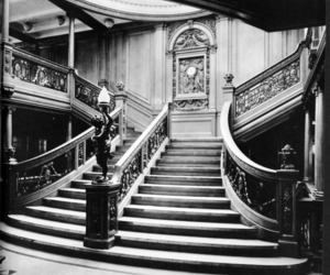 titanic, black and white, and vintage image