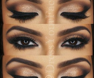 makeup, brown, and eyebrows image