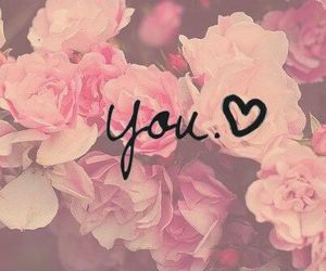 love, you, and flowers image