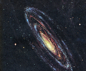 space, stars, and art image