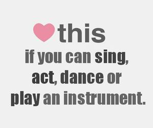 dance, sing, and act image