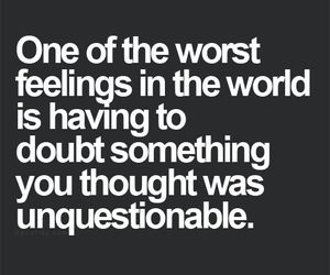 quotes, doubt, and feelings image