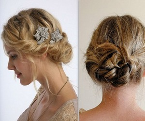 bun, girly, and Prom image