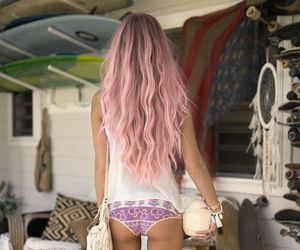 color hair, hair, and summer image