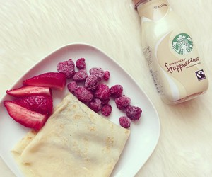 food, starbucks, and breakfast image
