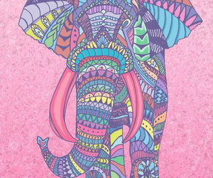 elephant, wallpaper, and pink image