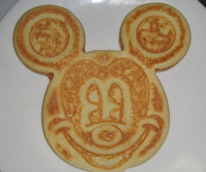 disney, mikey, and wafles image