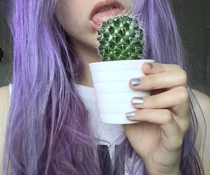 grunge, purple hair, and pale image