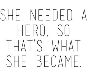hero, quote, and strong image