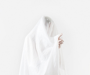 white, ghost, and aesthetic image