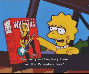 Courtney Love, lisa, and simpsons image