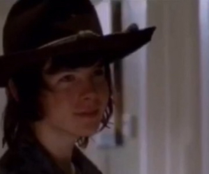carl, smile, and the walking dead image