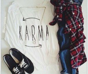 outfit, fashion, and karma image