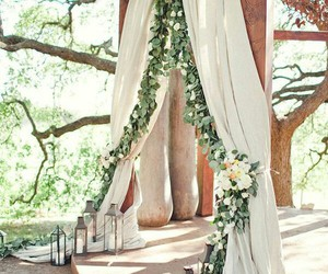 wedding, flowers, and ceremony image