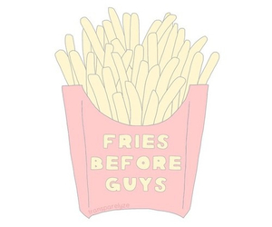 fries, guys, and overlay image