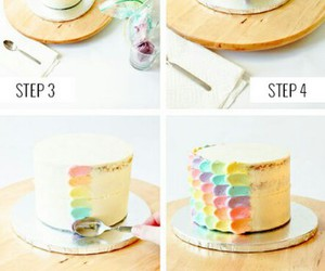 diy, cake, and rainbow image