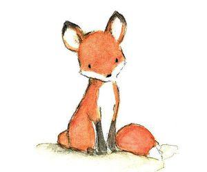 fox, drawing, and animal image