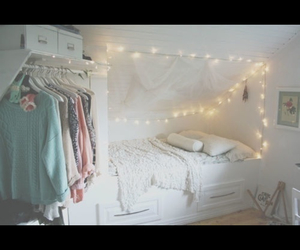 girl, light, and room image