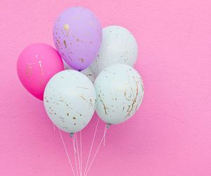 pink, balloons, and purple image